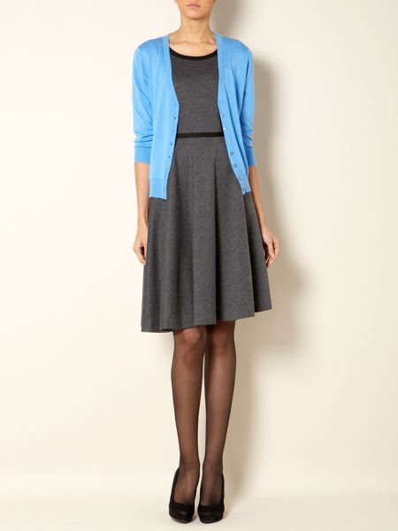 The Department Ponte full skirt dress