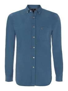 Long sleeved oxford shirt with one pocket