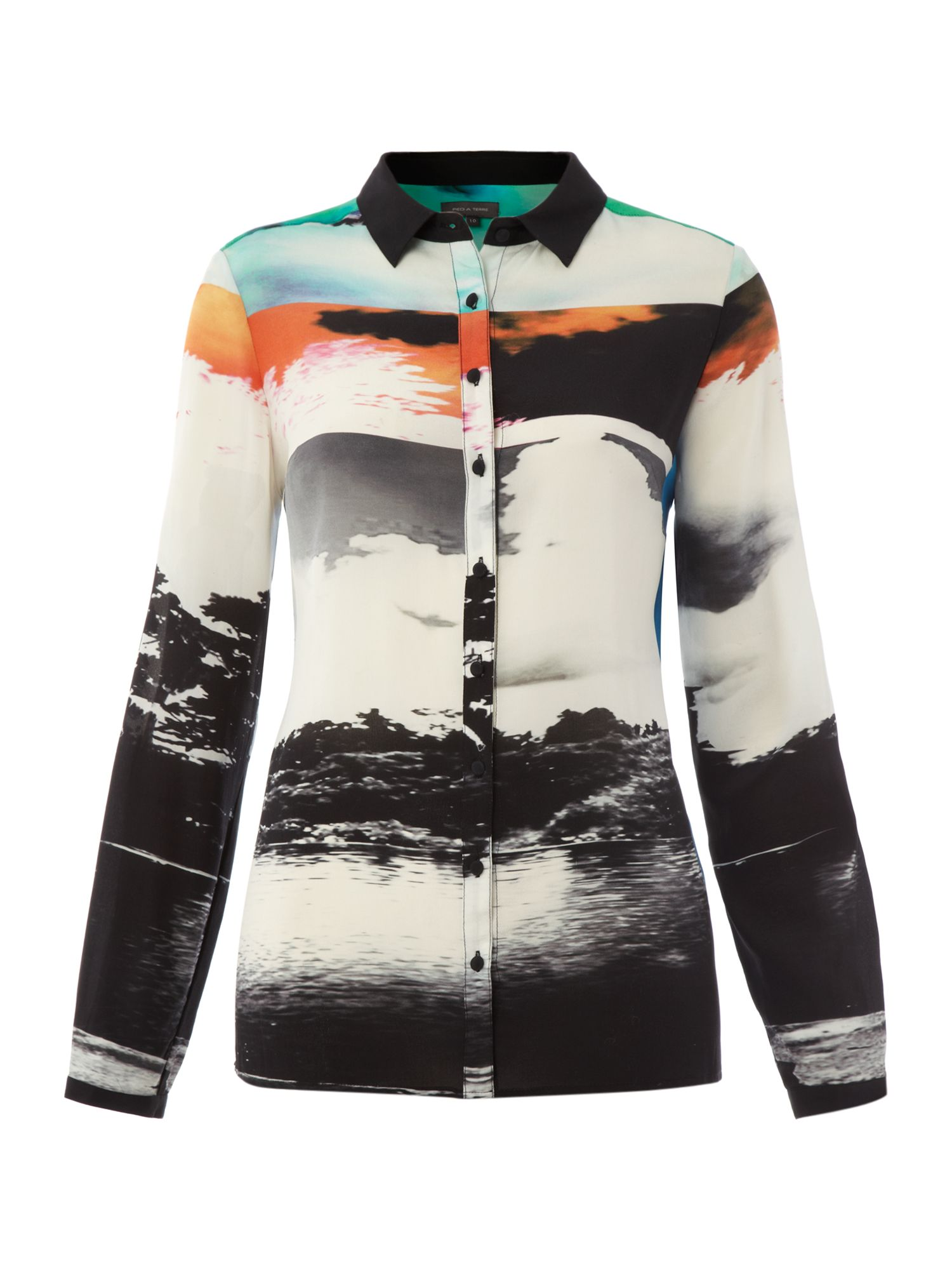 Engineered Long Sleeve print shirt
