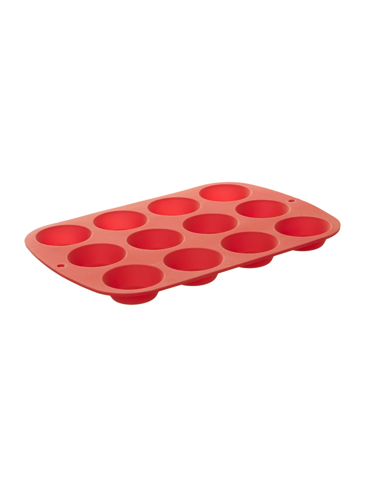 Silicone 12 Cup Bun Mould, Red
