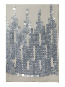 Waterfall sequin evening scarf