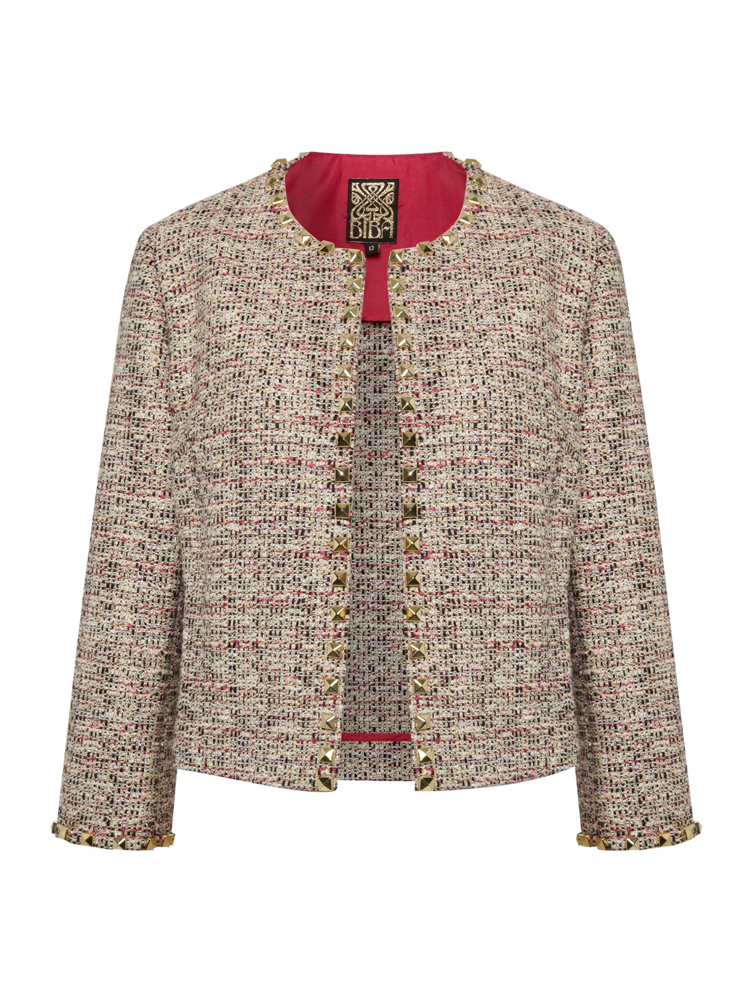 Summer tweed studded jacket
