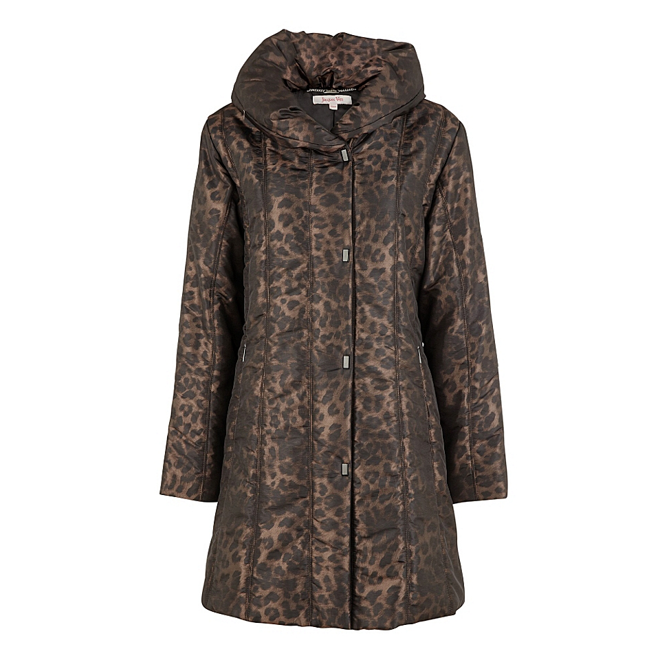 Jacques Vert Animal print quilted raincoat Multi Coloured