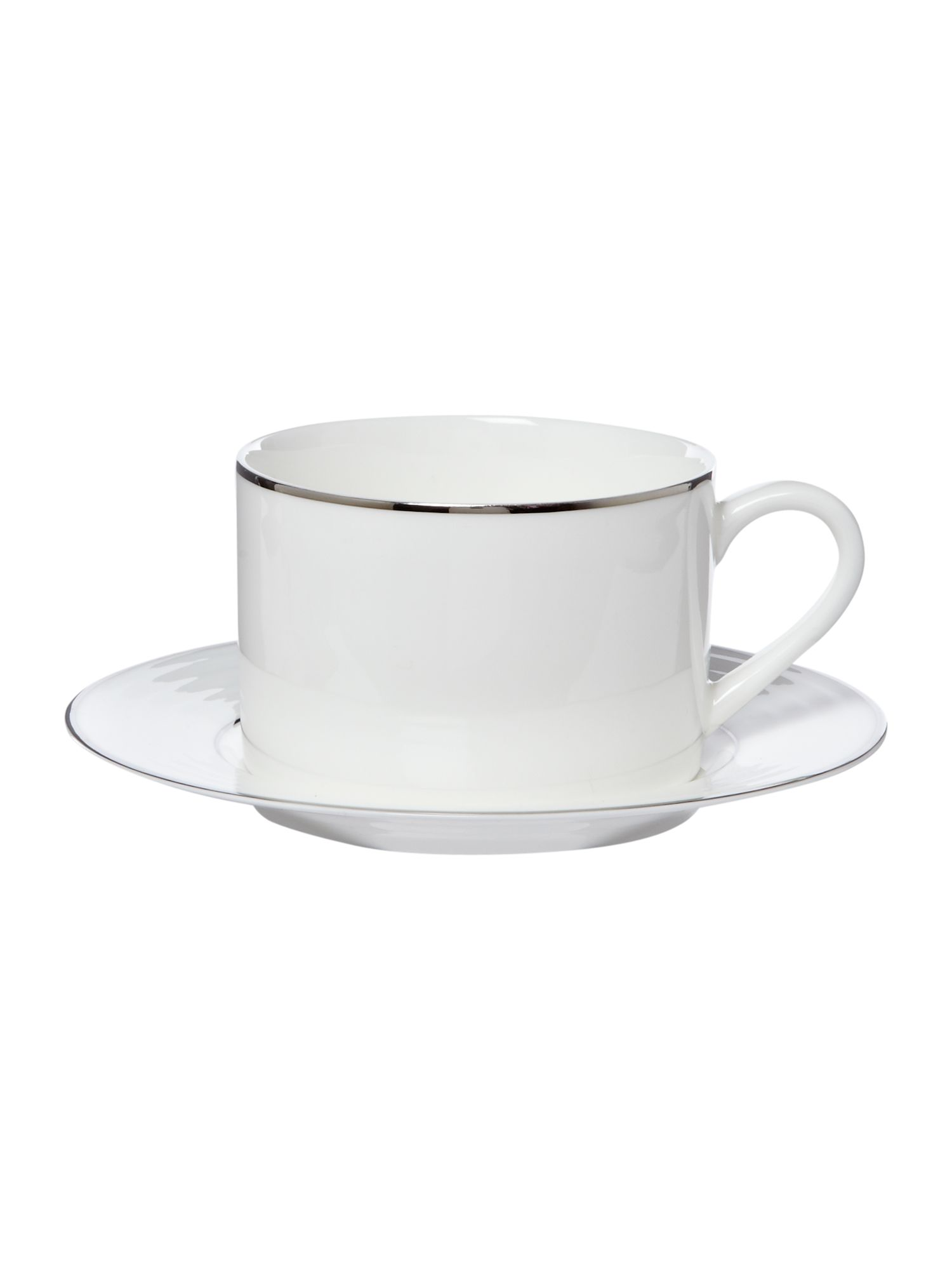 Soho platinum teacup and saucer