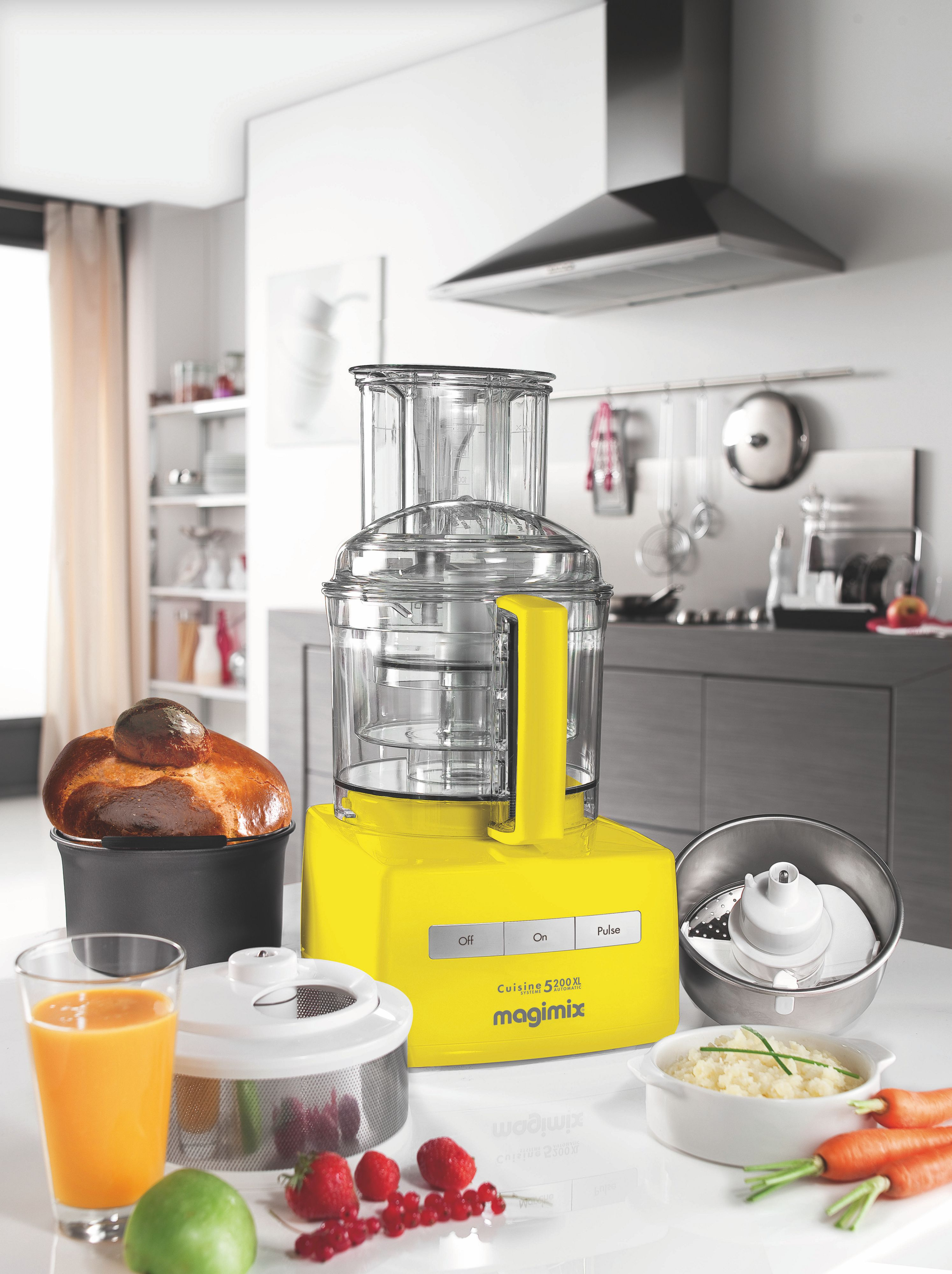 Premium yellow food processor 5200XL