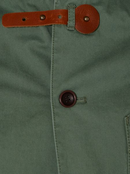 Linea Collie cotton twill light jacket with leather tab