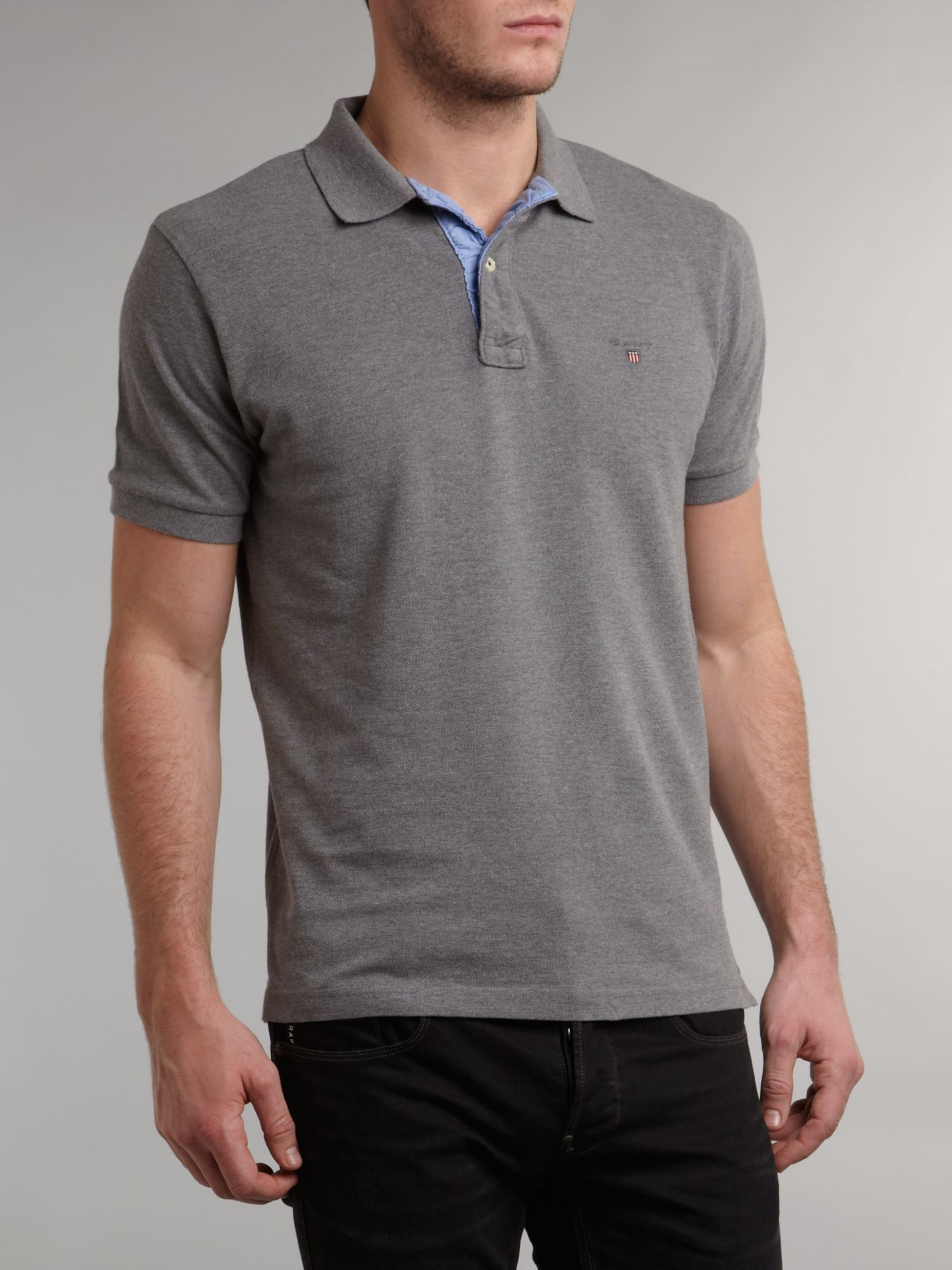 Regular fit solid pique polo shirt