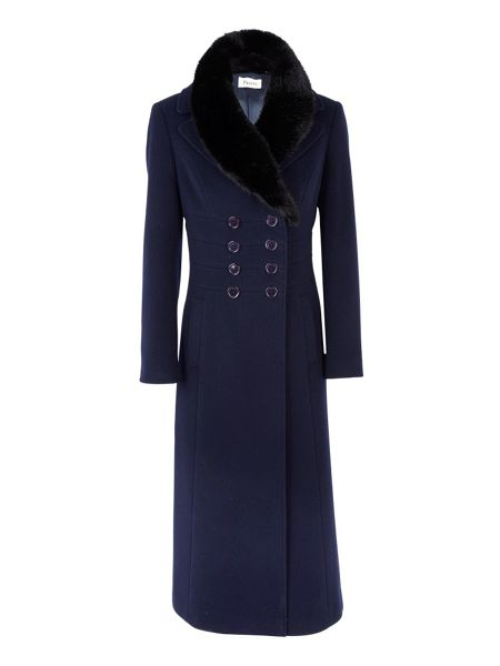 Precis Petite Navy long coat