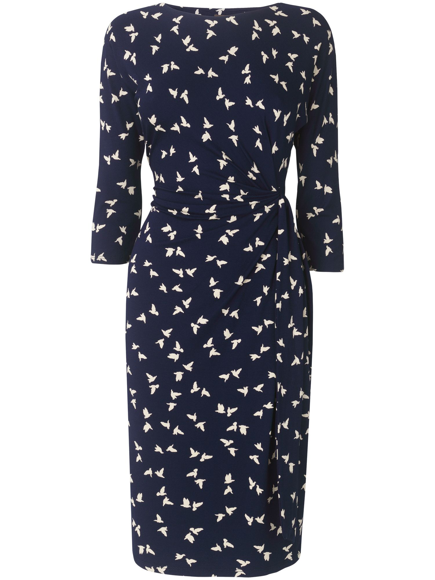 Kissing birds print dress