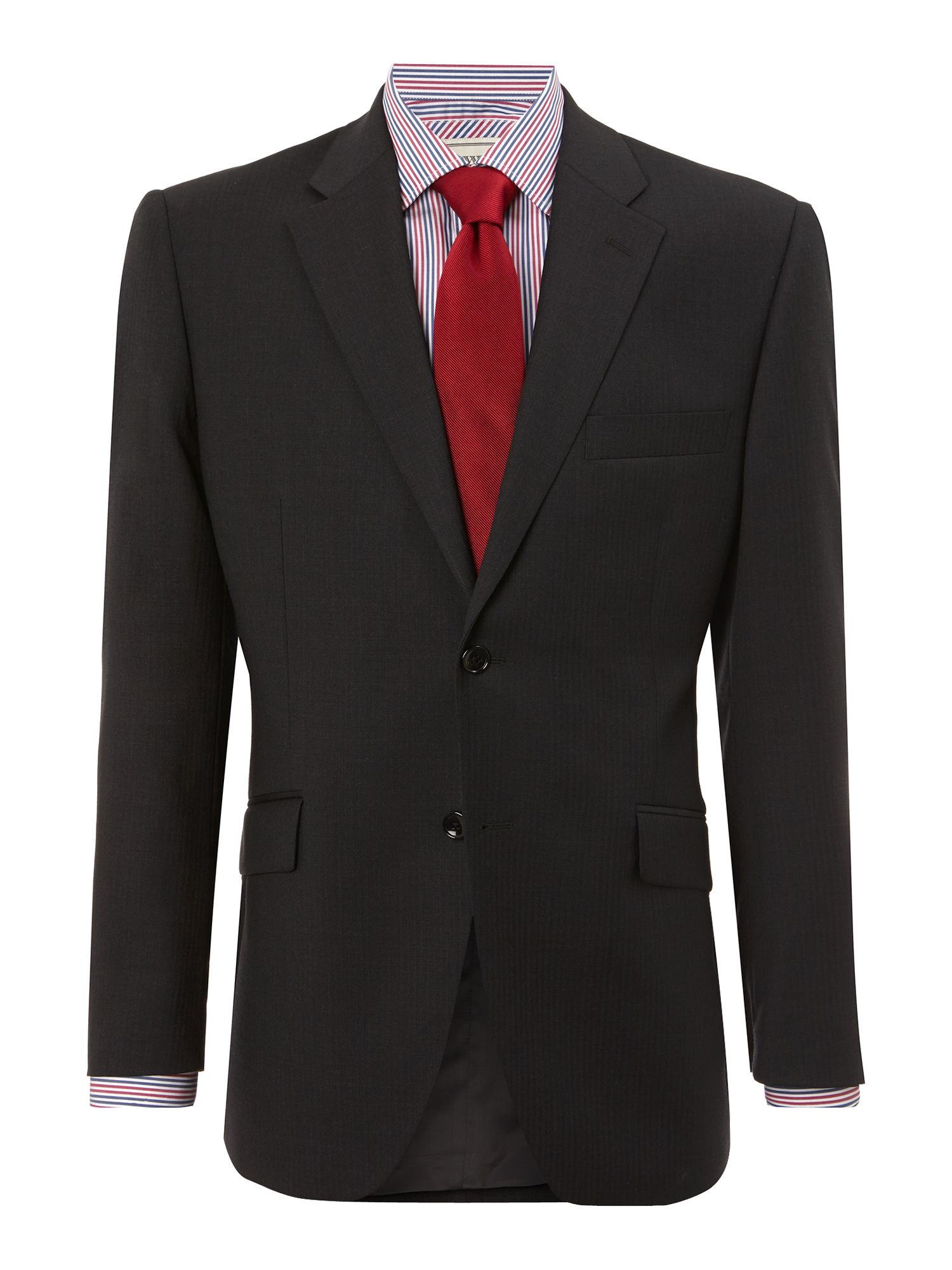 Howard Fine Herringbone Suit Jacket