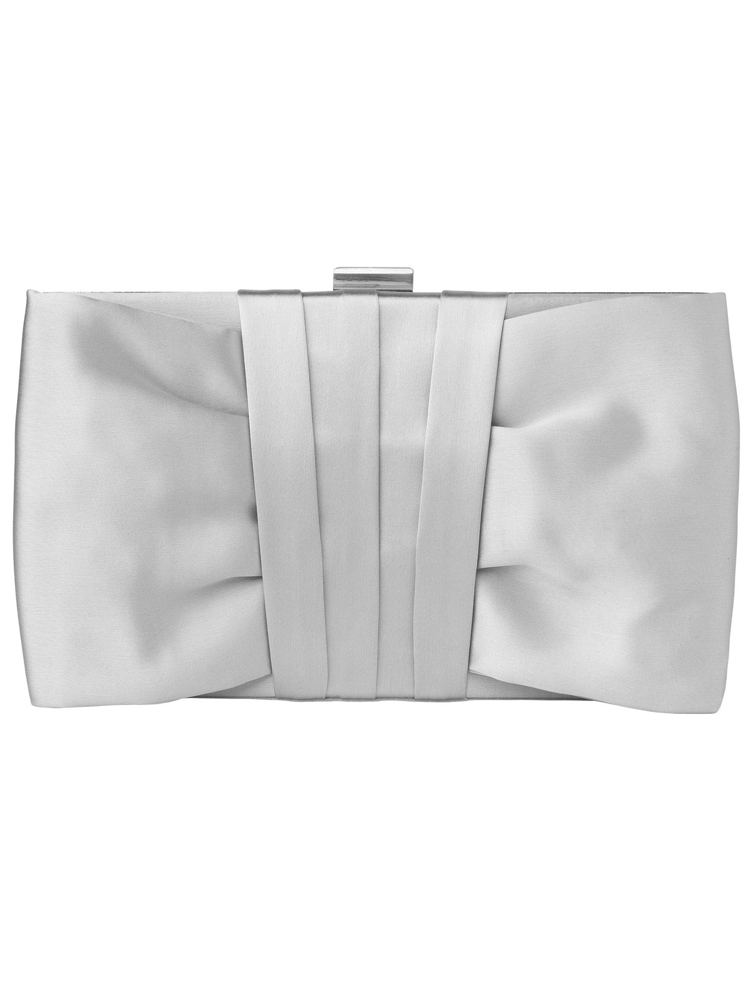 Yasmin satin clutch bag