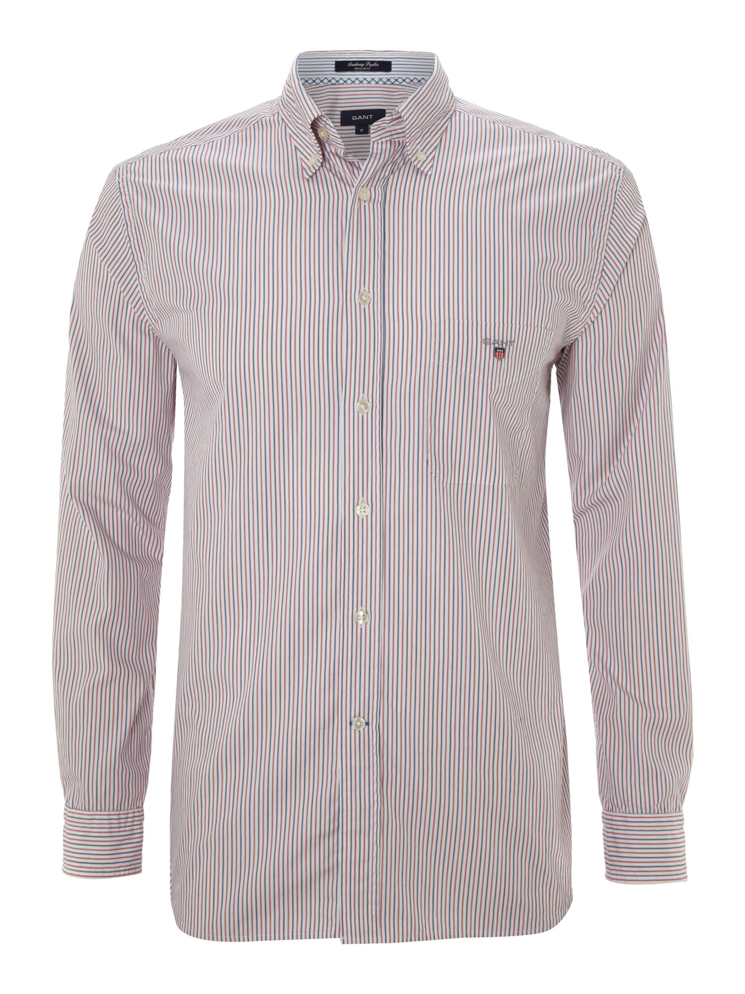 Long sleeve thin multi strip shirt