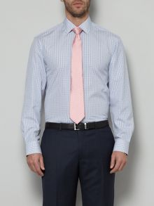 Two colour check formal shirt with pocket