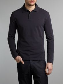 Long sleeved logo polo shirt