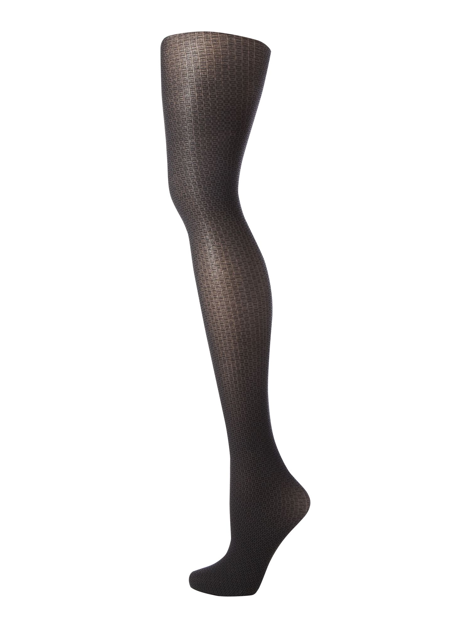 Two tone cube opaque tights