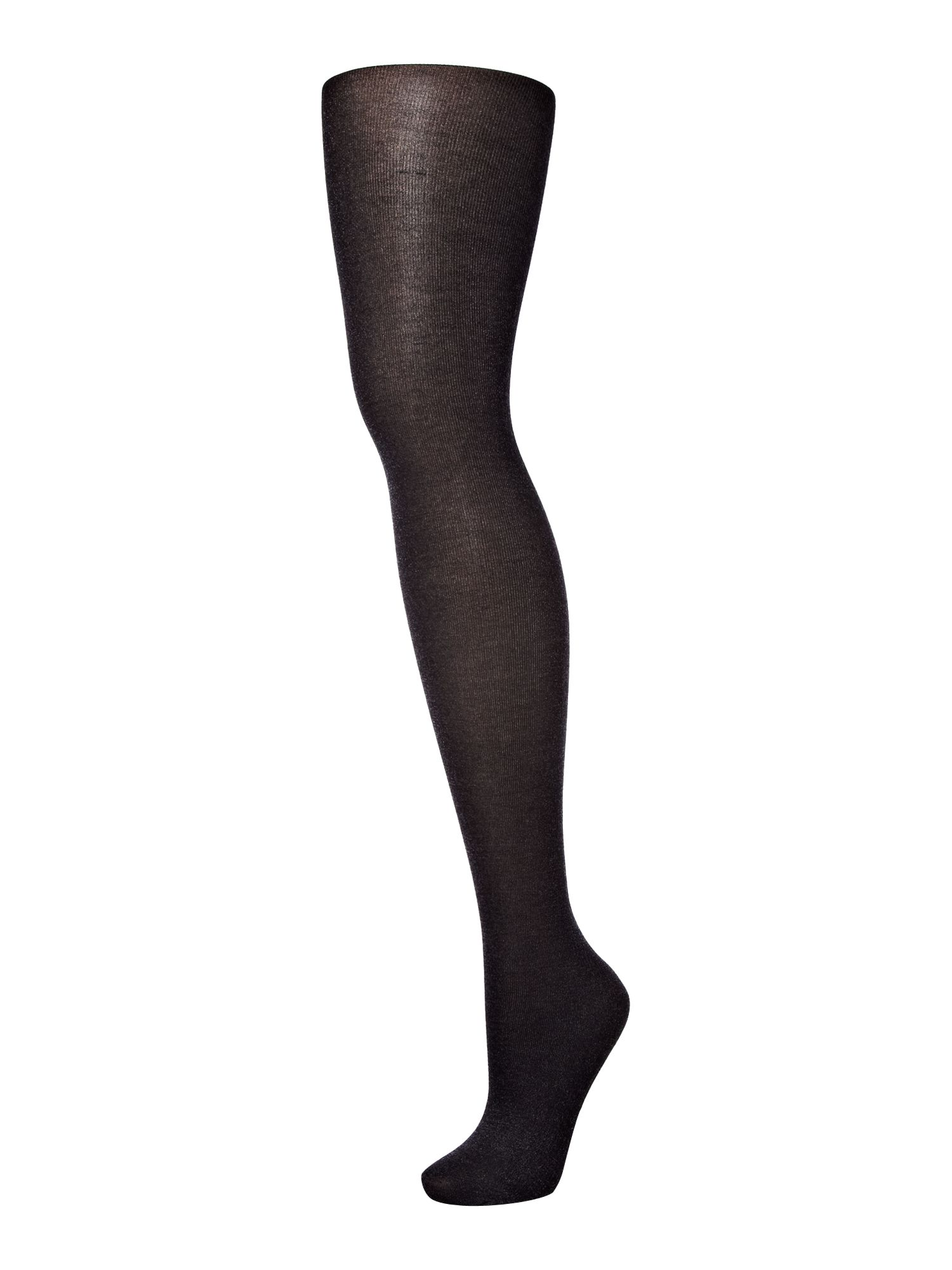 Metallic fine rib tights