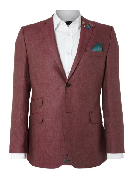 Ted Baker Tight Lines linen striped suit jacket
