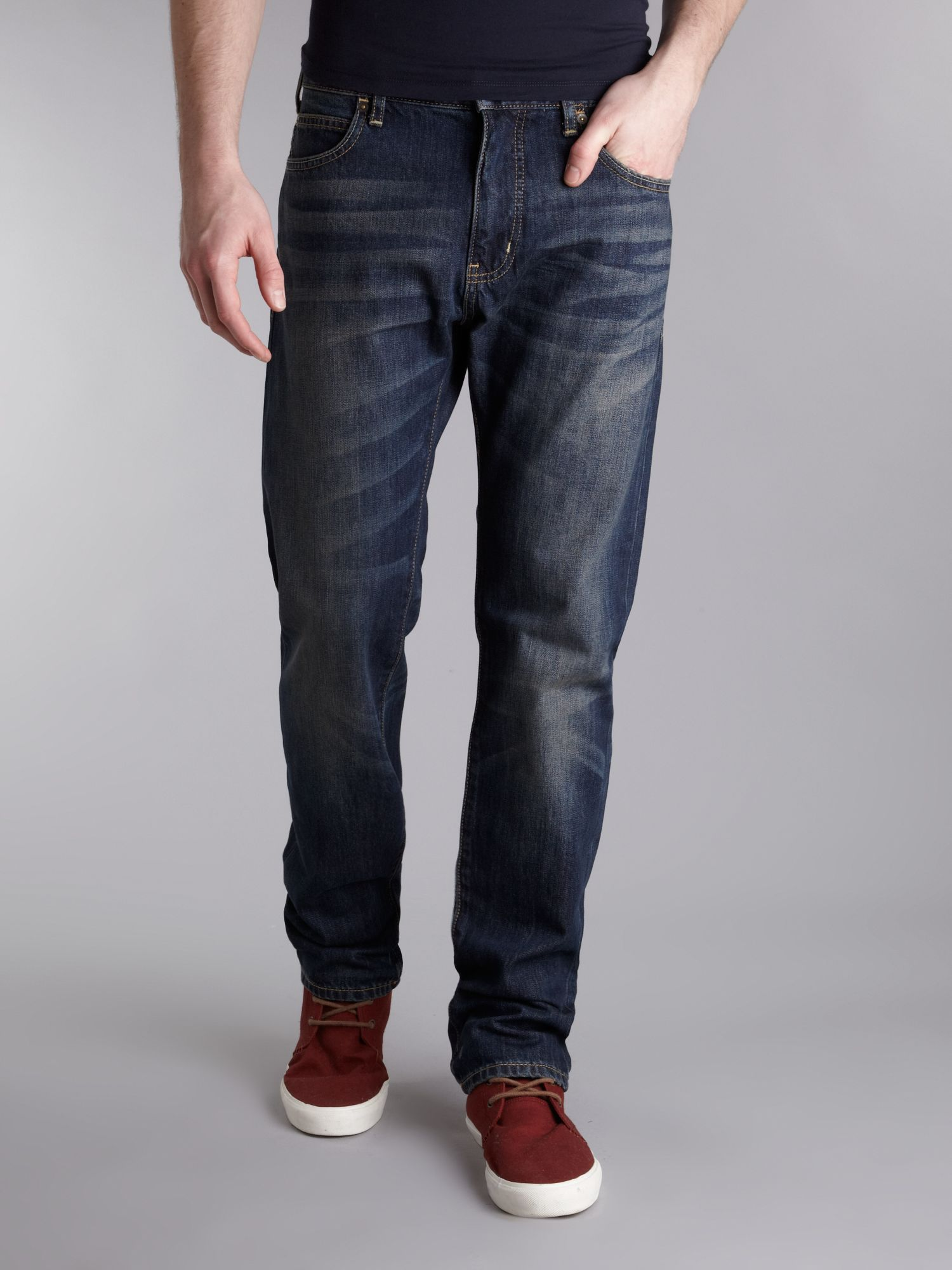 J45 tapered fit dirty wash jeans