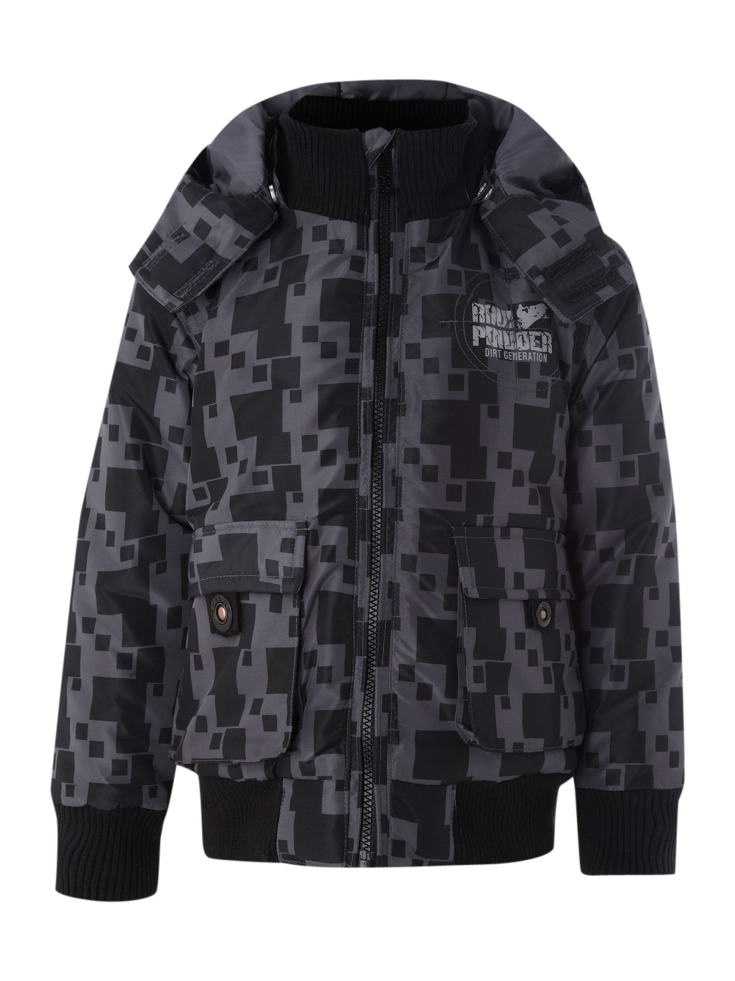 Boy`s square print bomber jacket