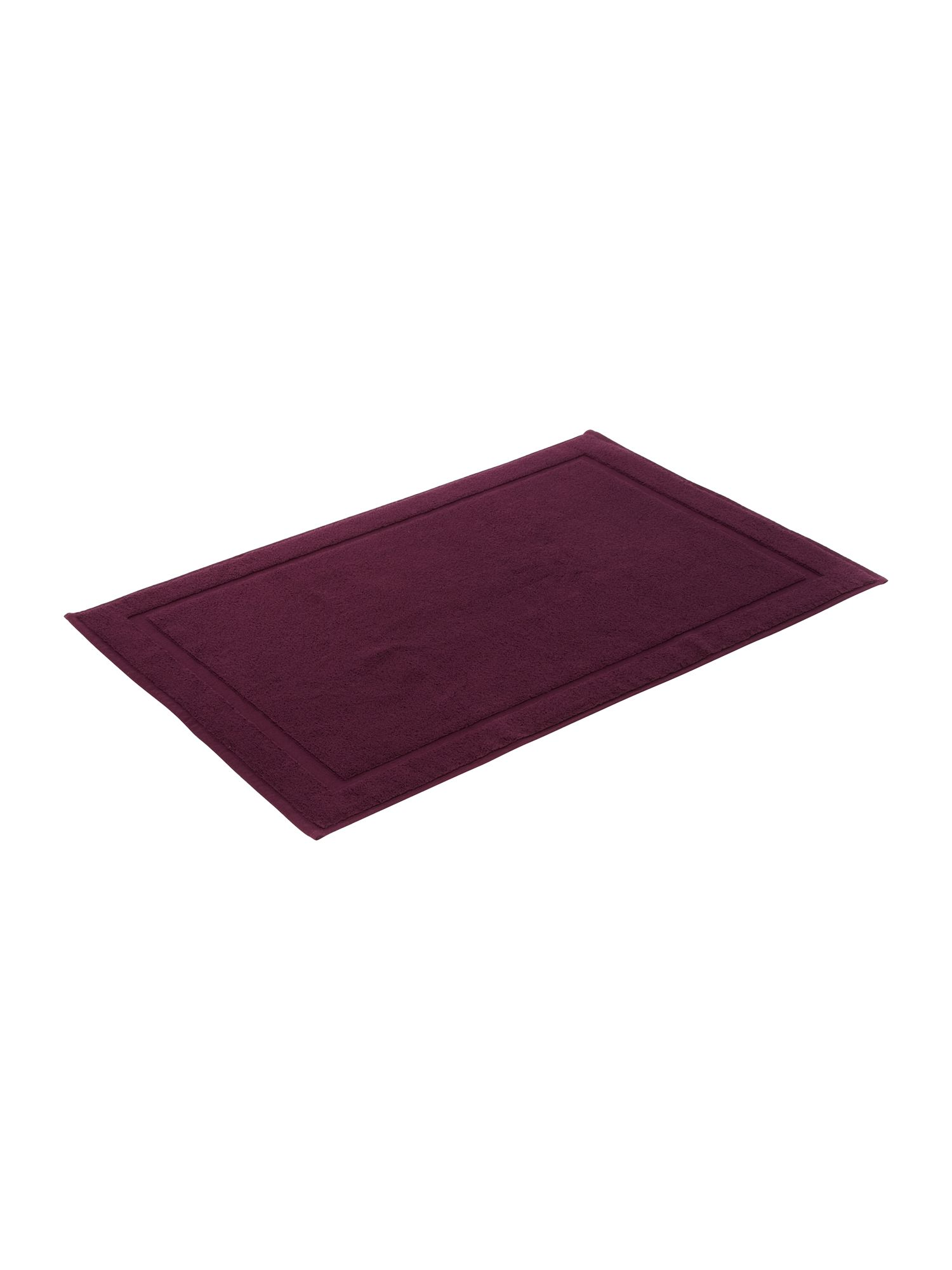Zero twist bath mat plum