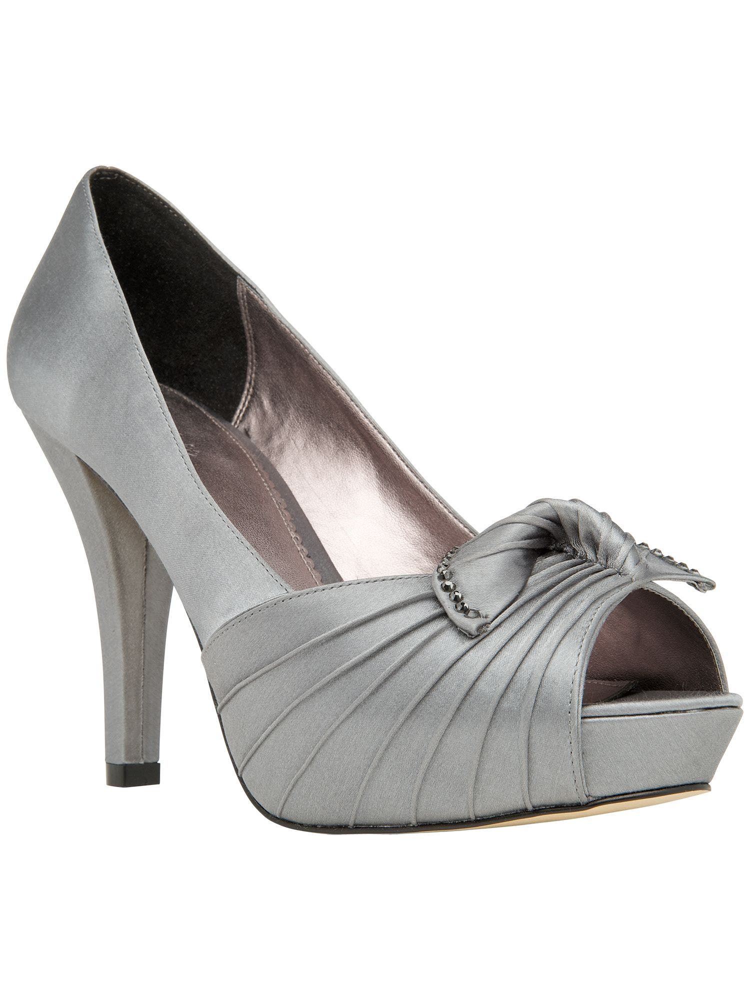 Edie platform peep toe shoes