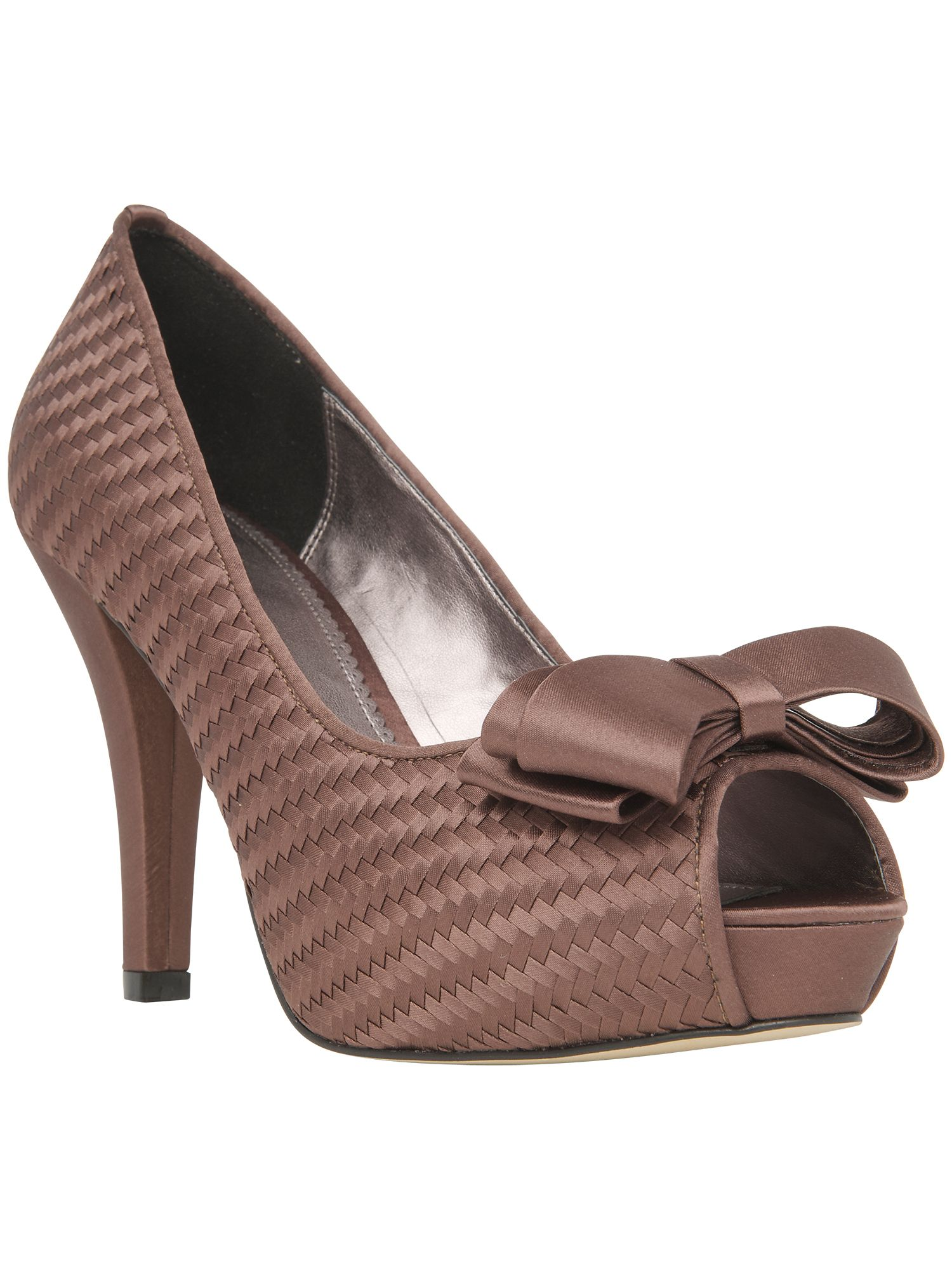 Becky weave peep toe shoes