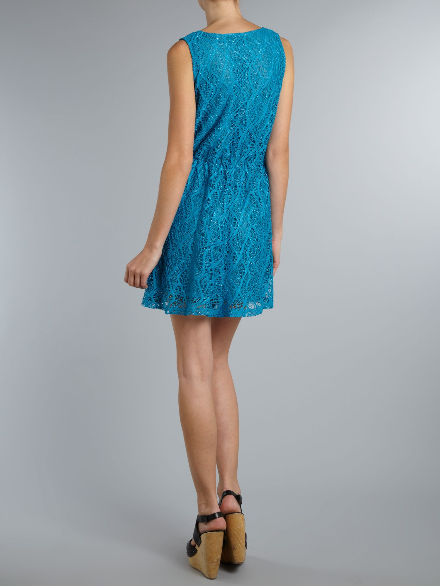 Cobweb knit lace dress