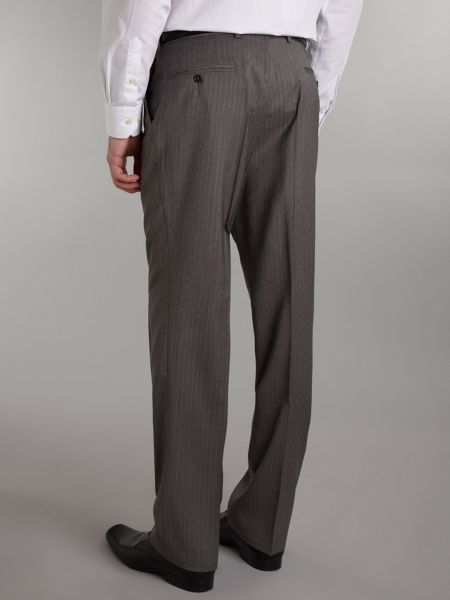 Ted Baker Fine stripe sterling classic fit suit trouser