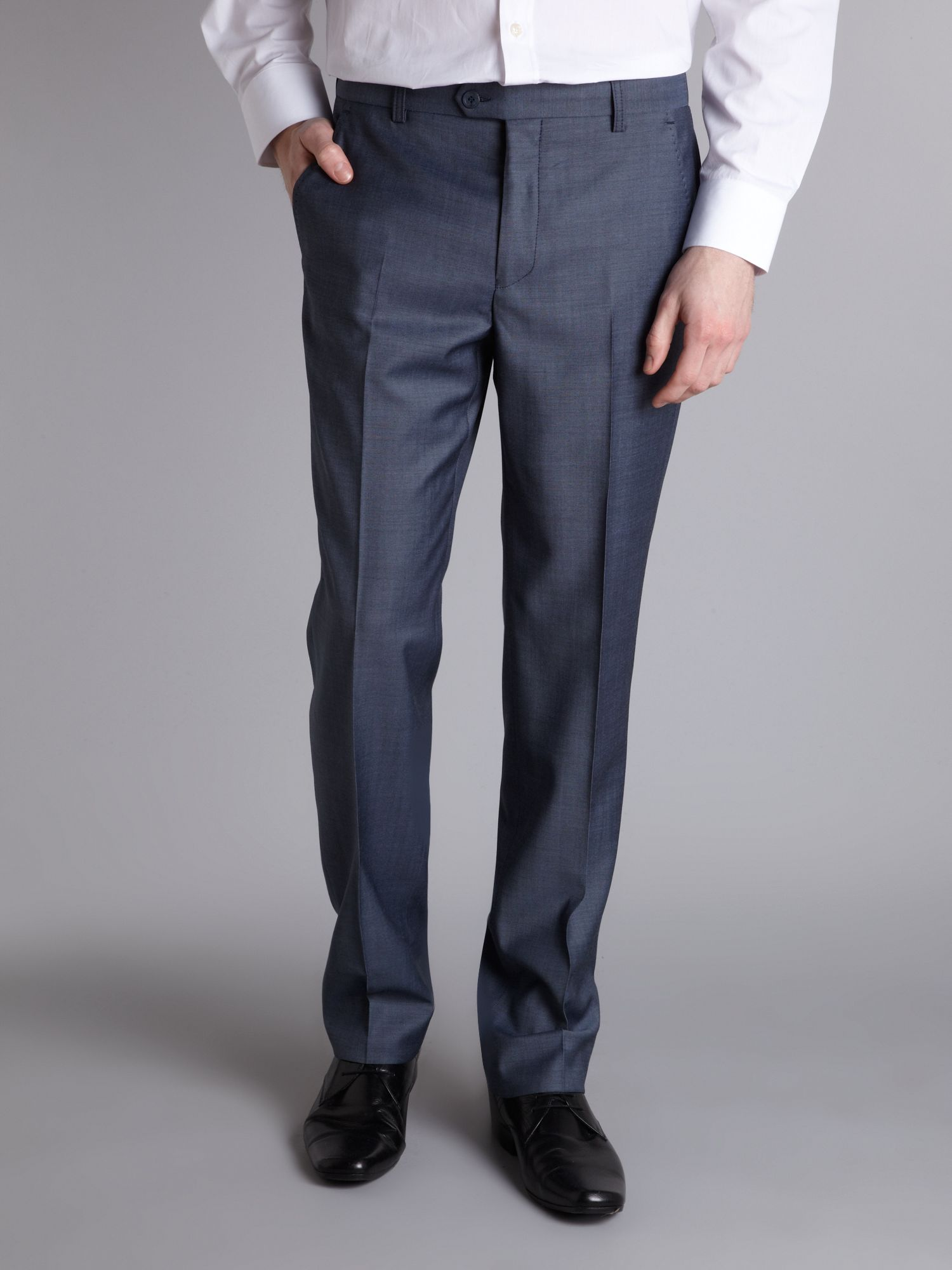 Melange slim fit suit trouser