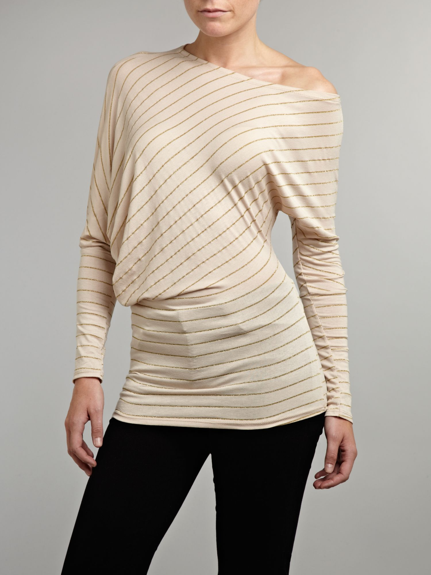 Asymetrical stripe top