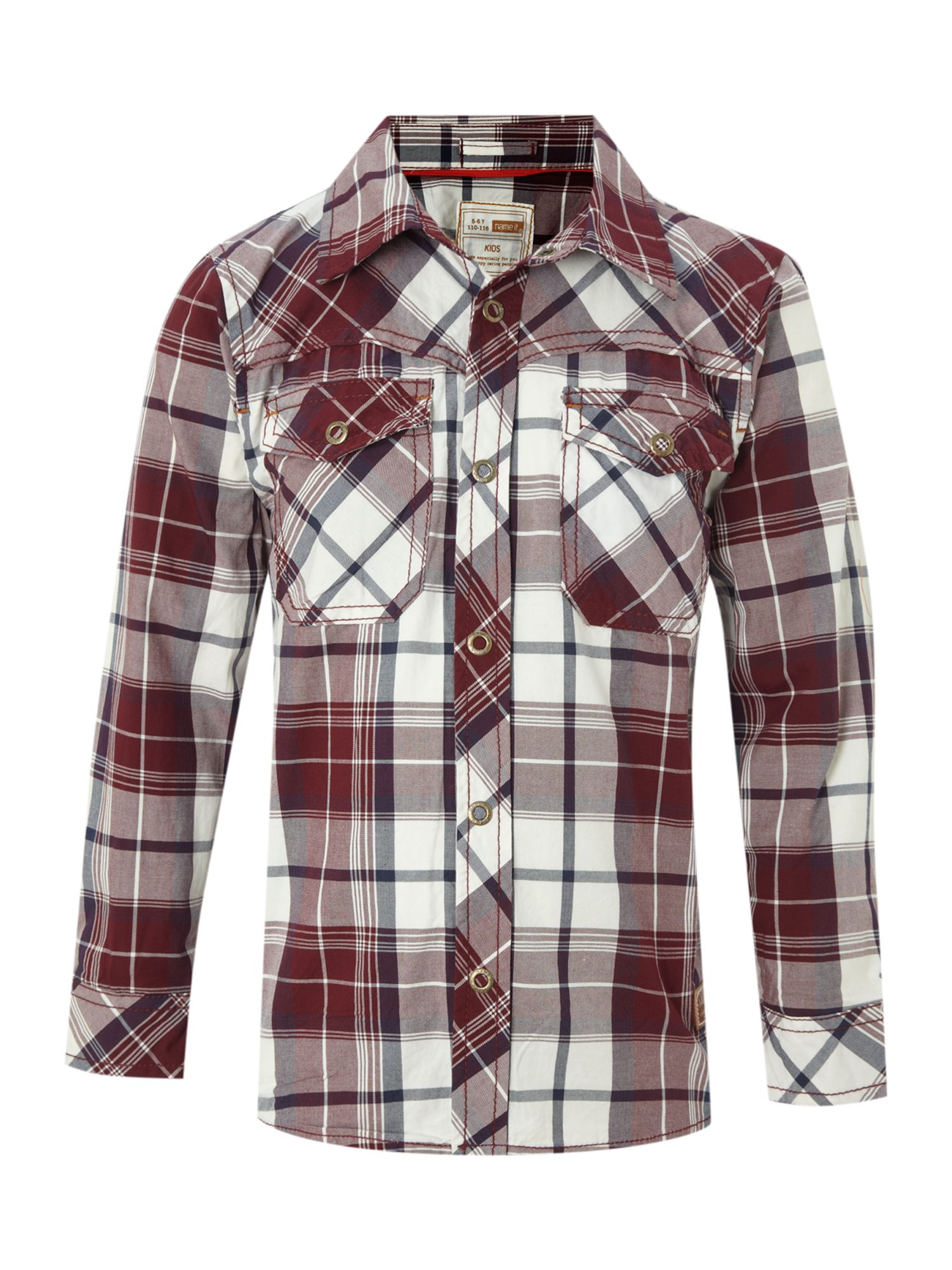 Boy`s long-sleeved bold check shirt