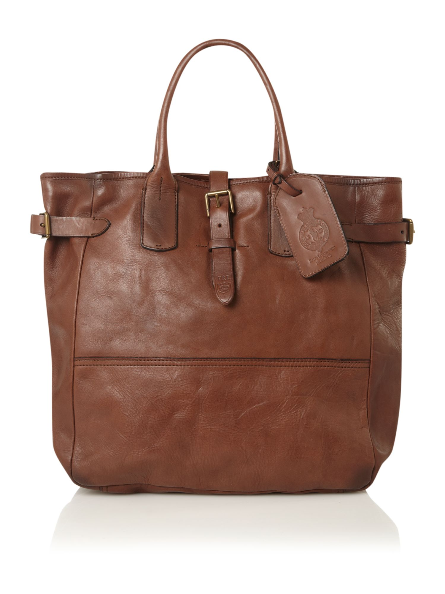 Polo Ralph Lauren Leather Tote Bag, Brown