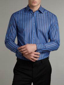 Wide stripe with print detail formal shirt