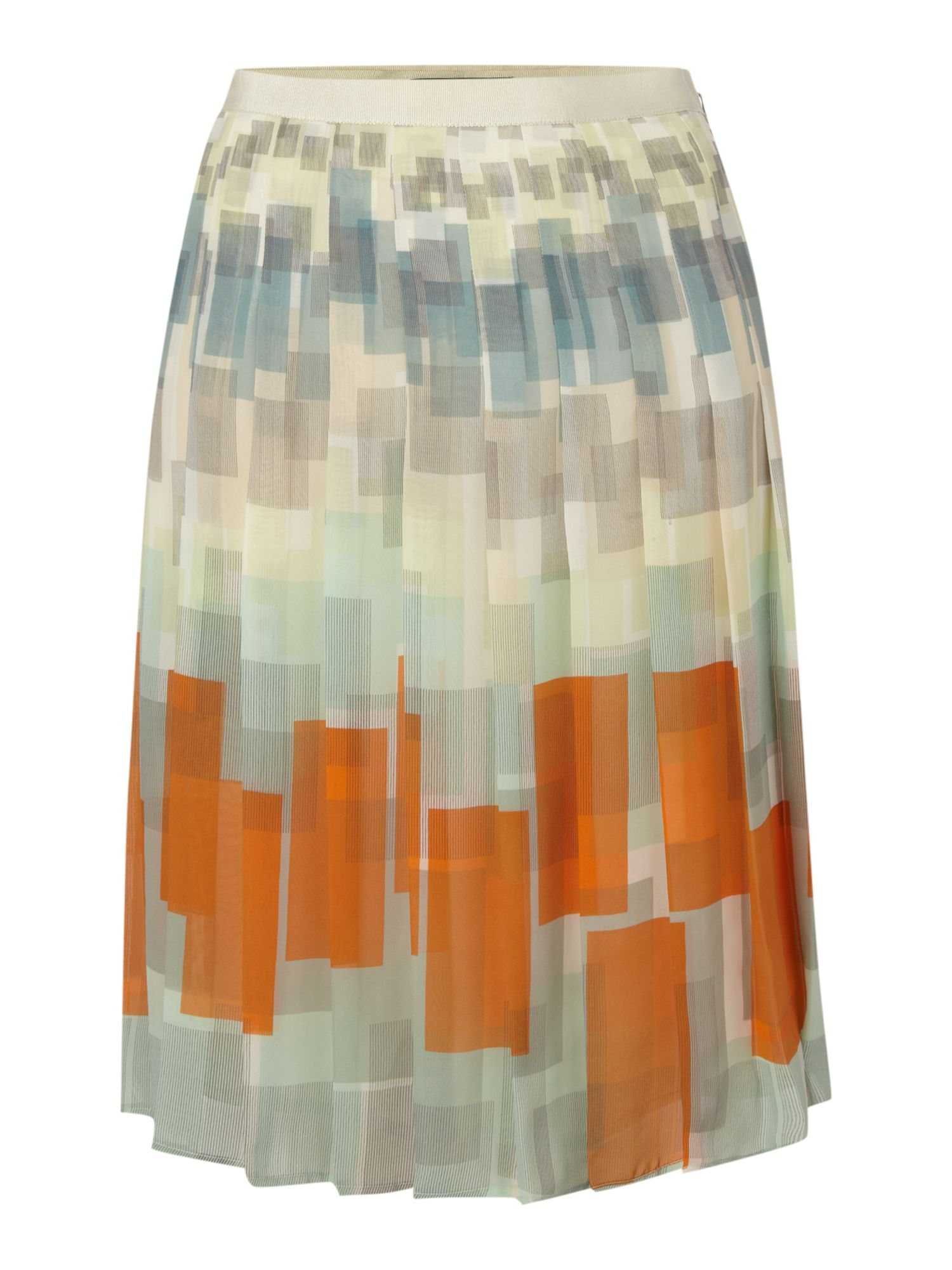 Geo square printed floaty skirt