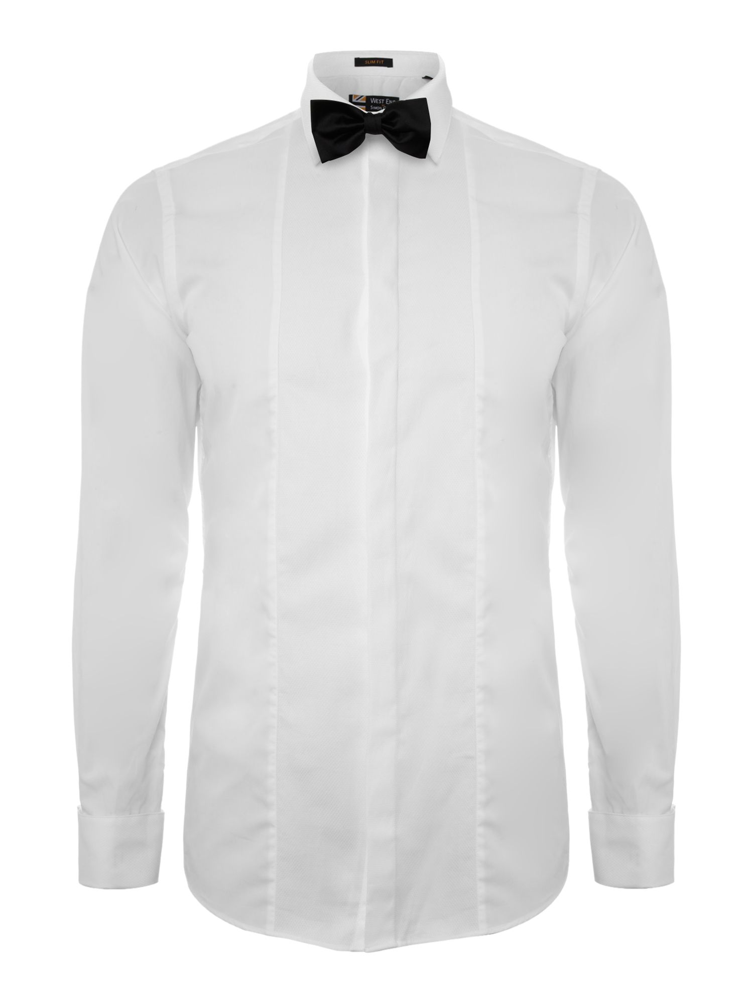 Contrast panel poplin formal shirt