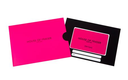 House of Fraser £250 Pink House of Fraser Gift Card