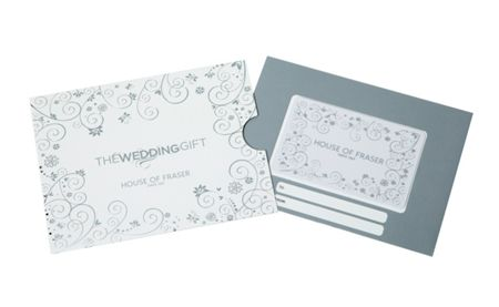 House of Fraser £50 Wedding Gift Card