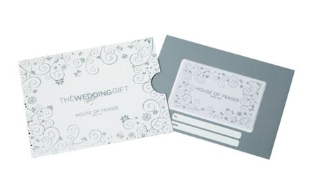 House of Fraser £100 Wedding Gift Card
