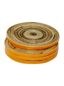 Spun bamboo coasters set of 4
