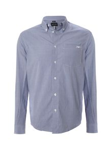 Armani Jeans Regular fit gingham long sleeved logo shirt