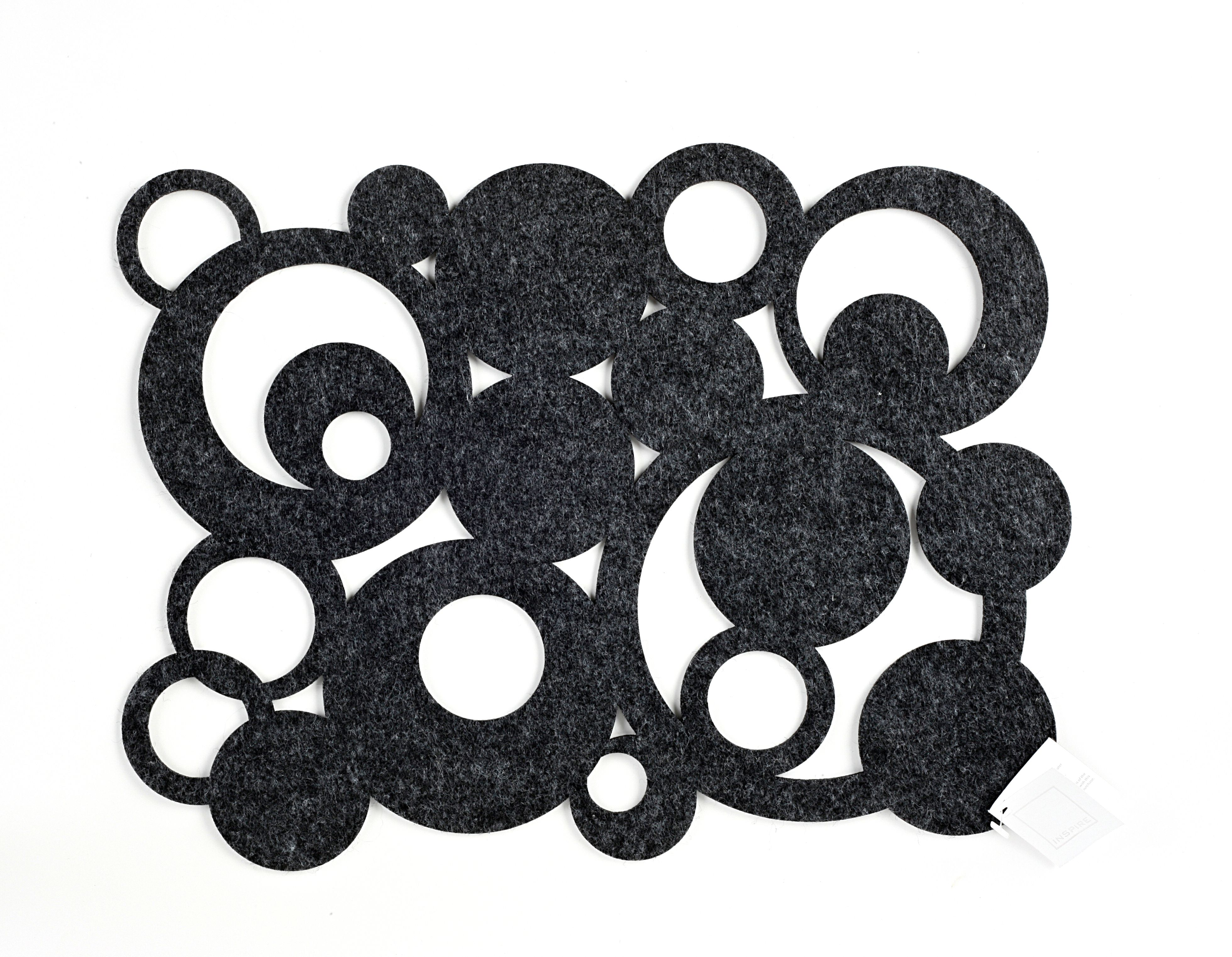 Grey retro felt placemat