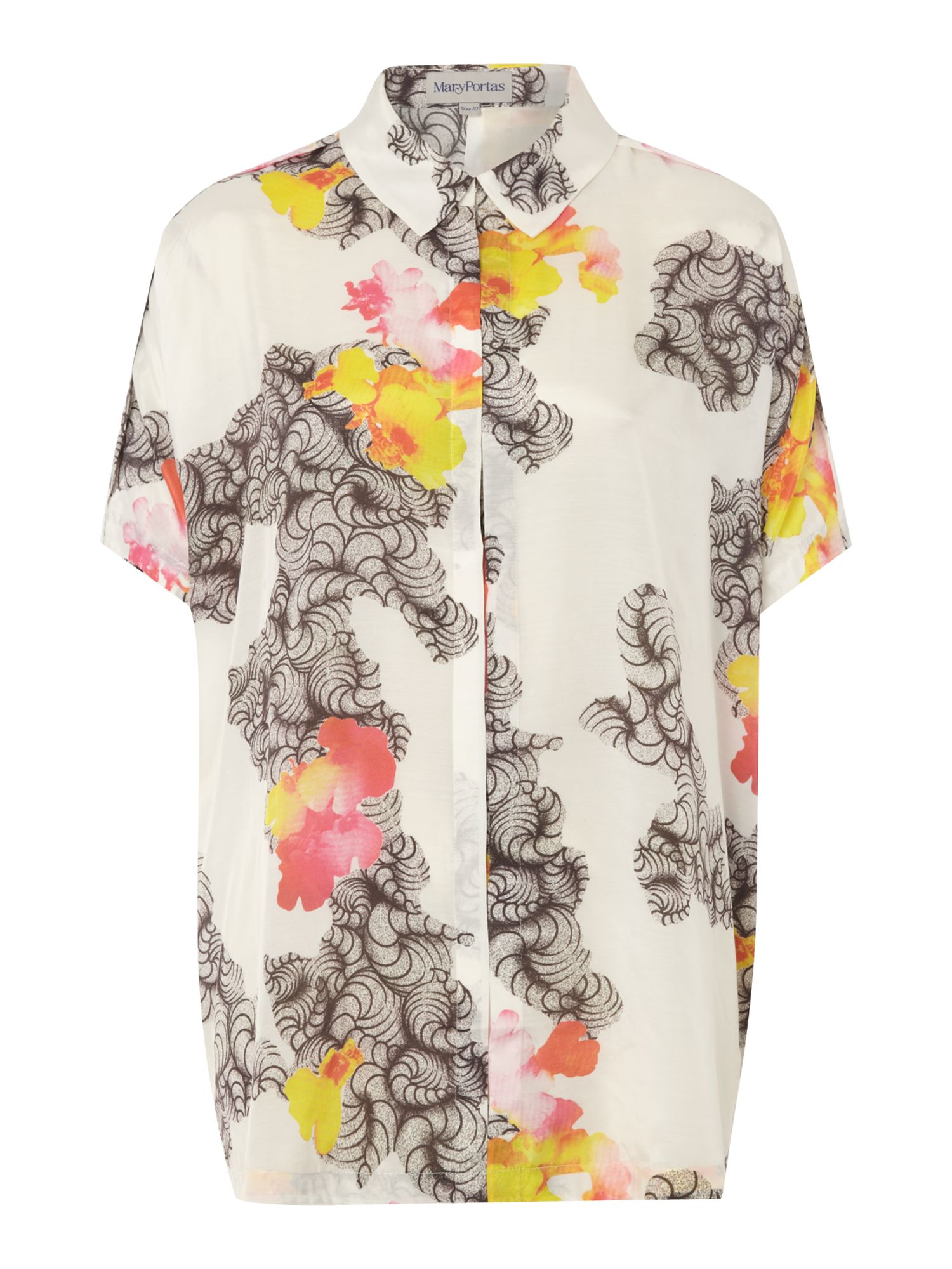 Placement print shirt