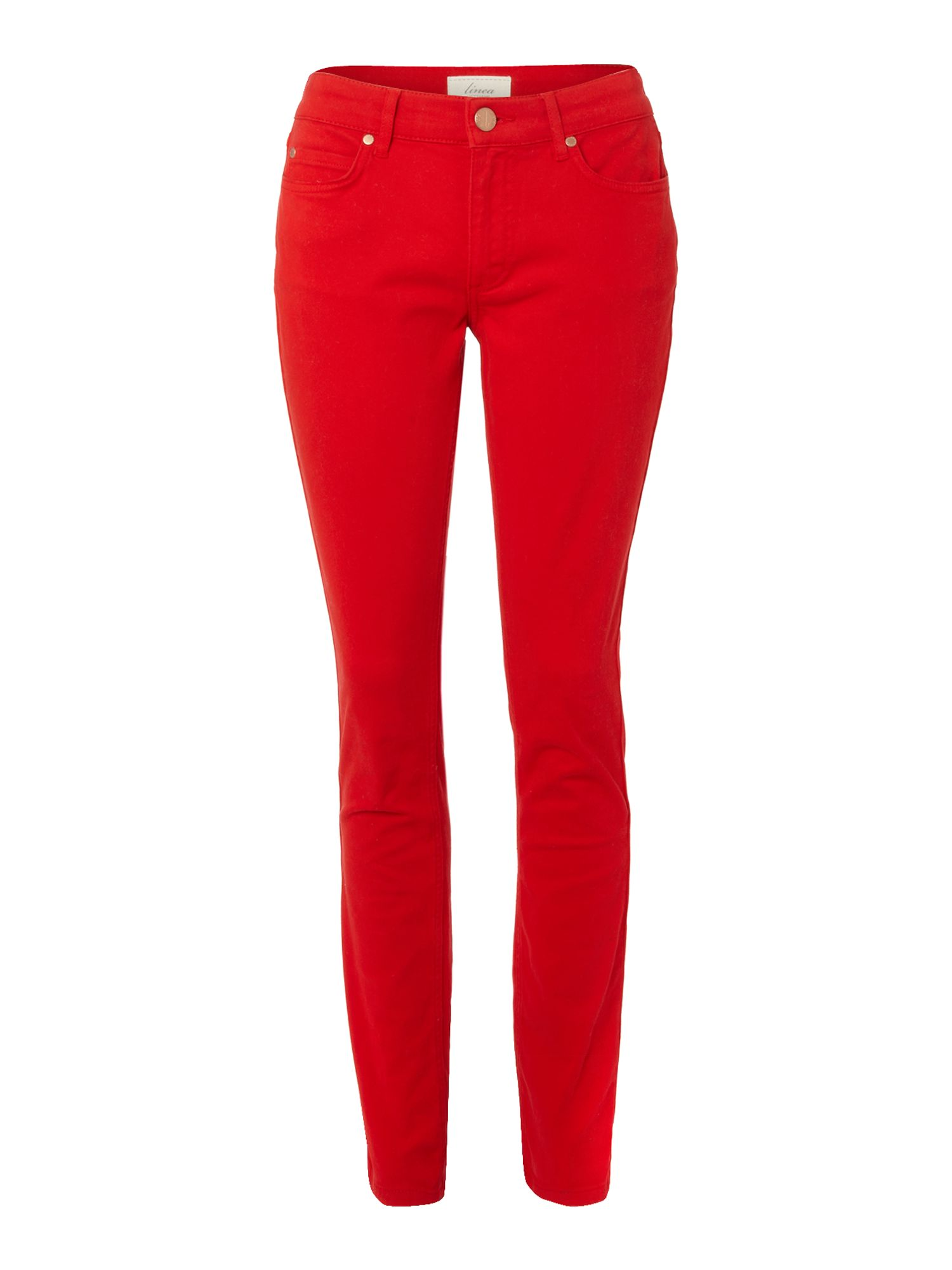Ladies slim leg coloured jeans