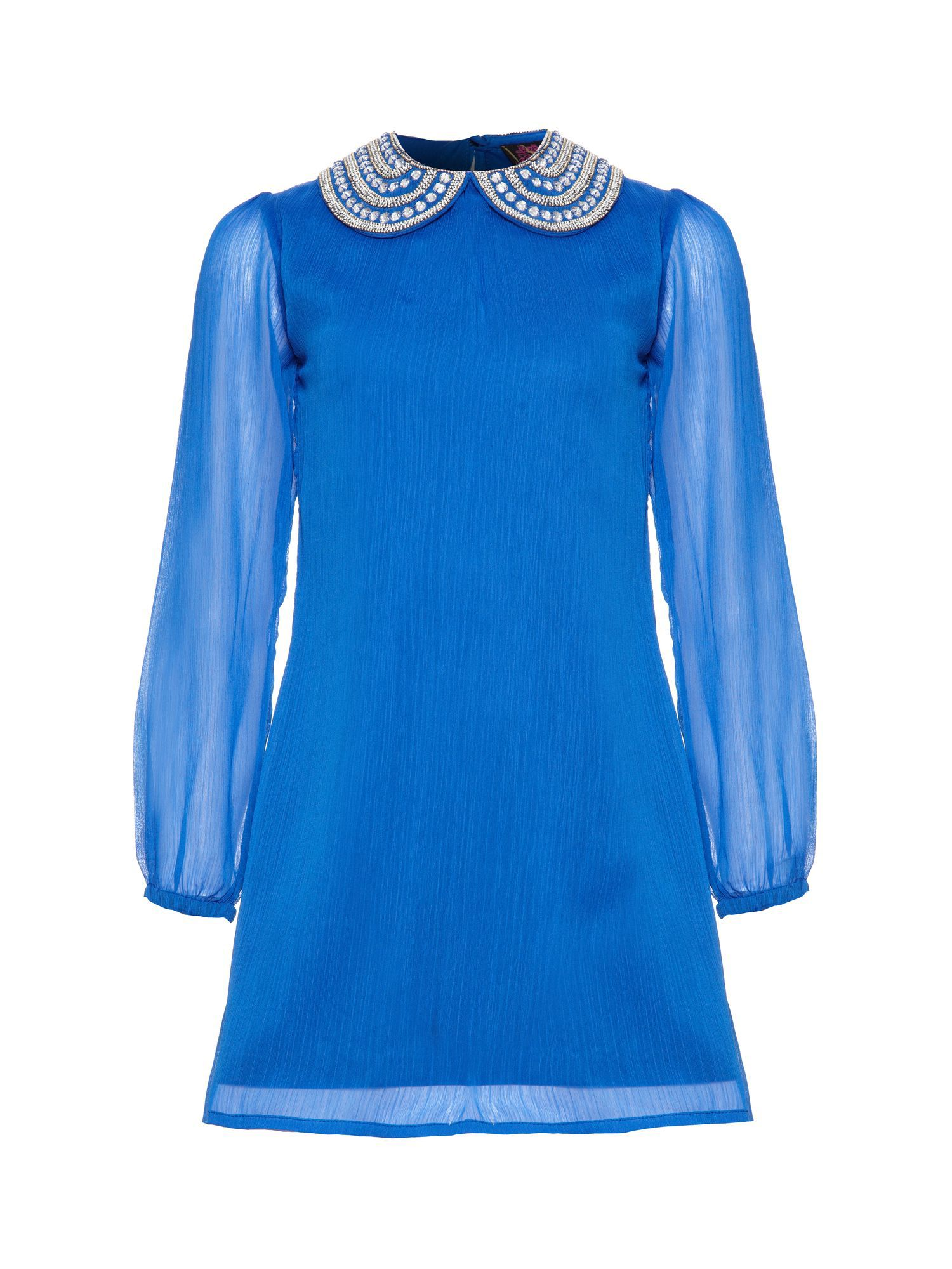 Girl`s jewel collar dress