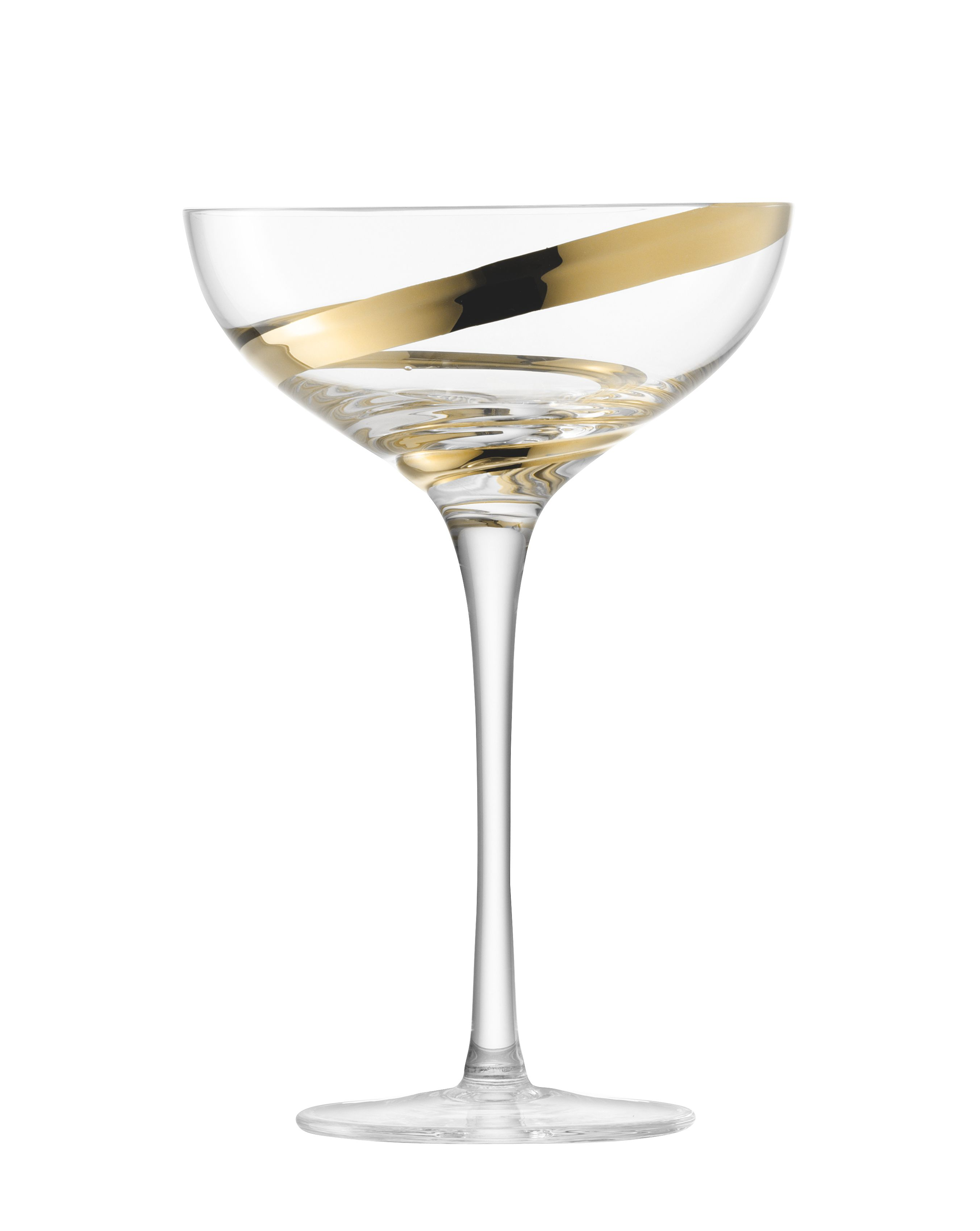 Malika champagne saucer set of 2