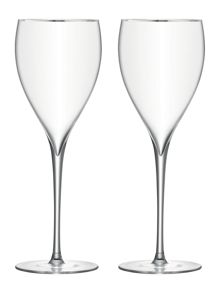 LSA Savoy Platinum rim wine glass, set of 2