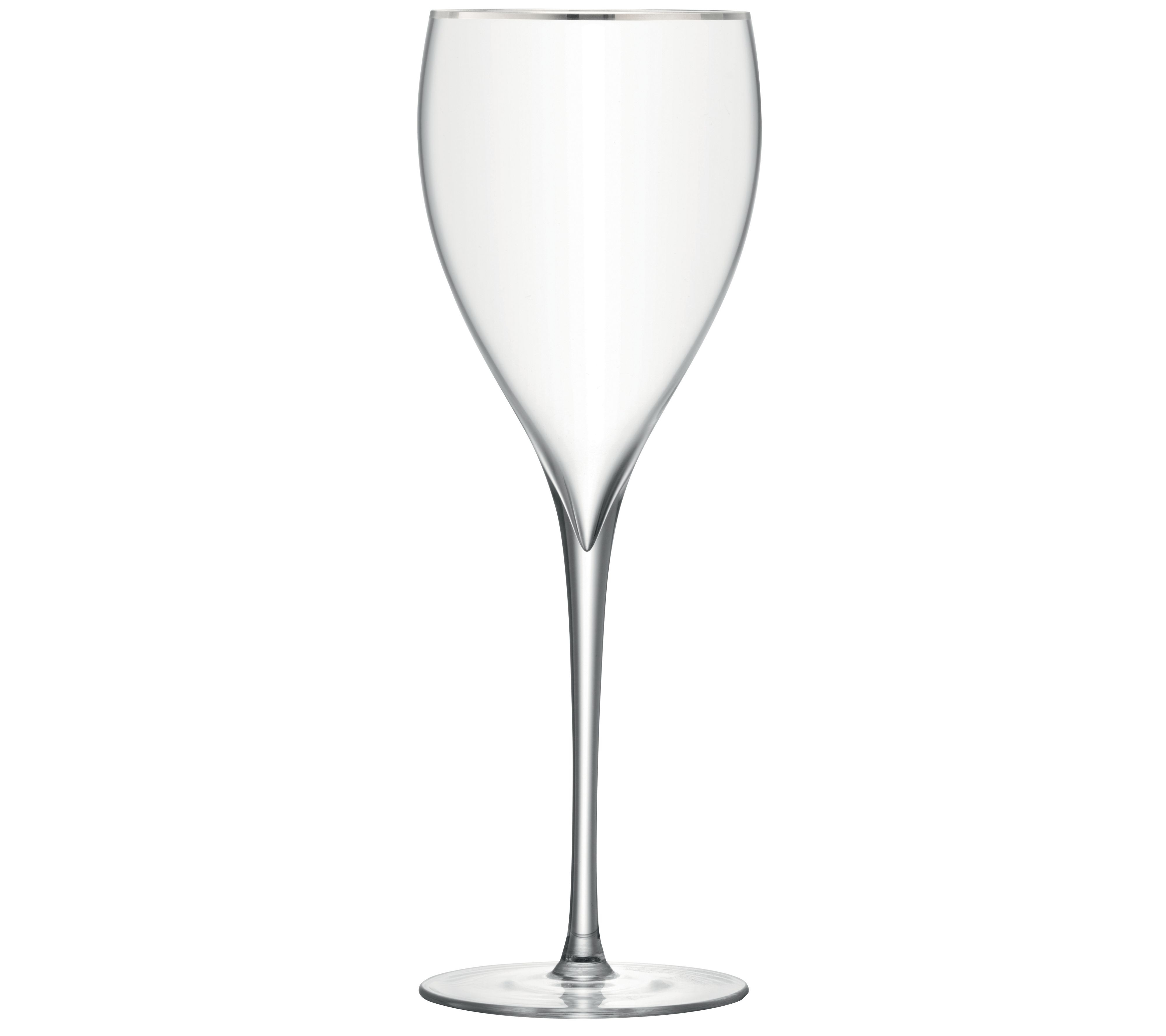 Savoy Platinum rim wine glass, set of 2