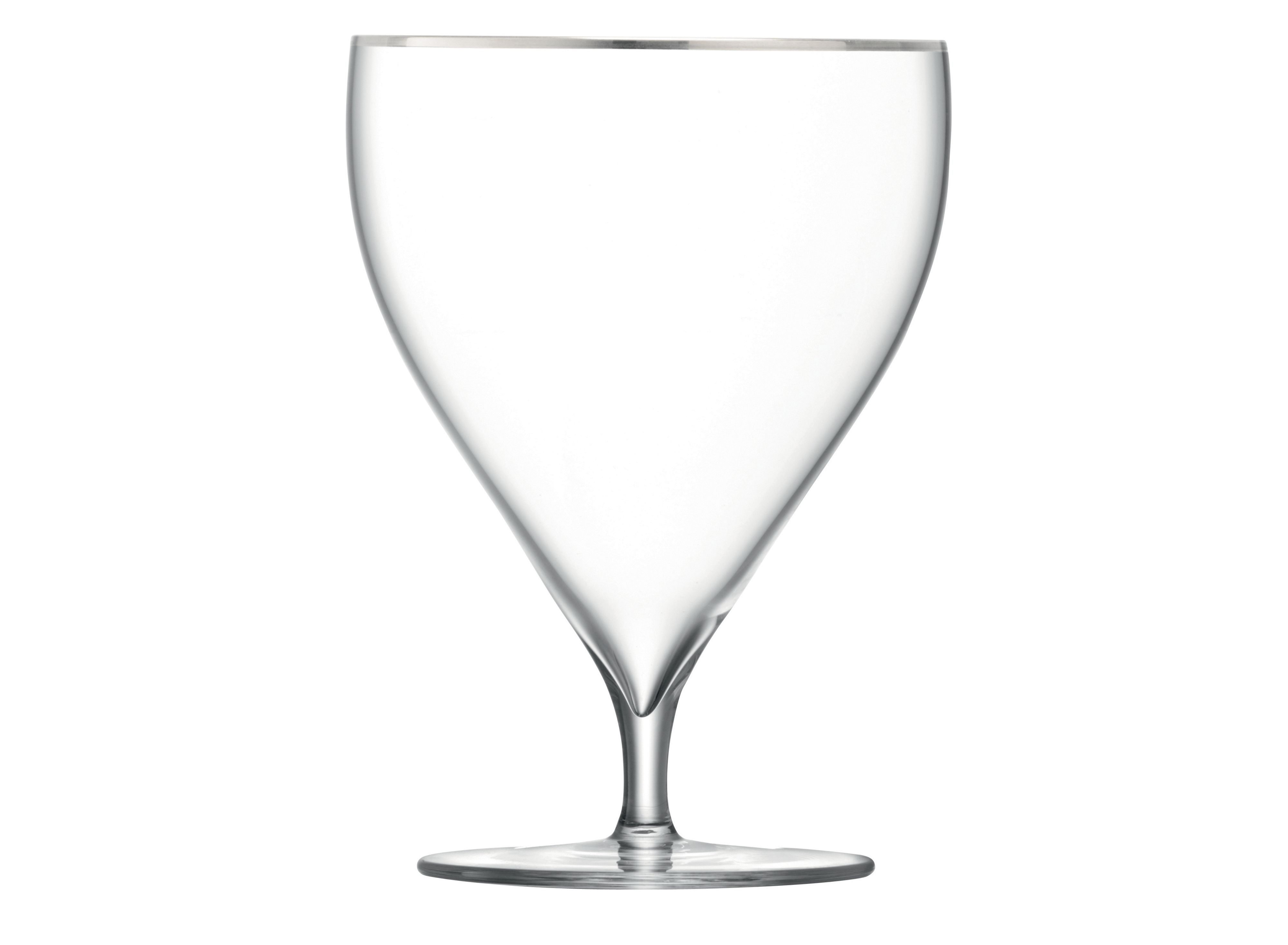 Savoy Platinum rim water glass set of 2