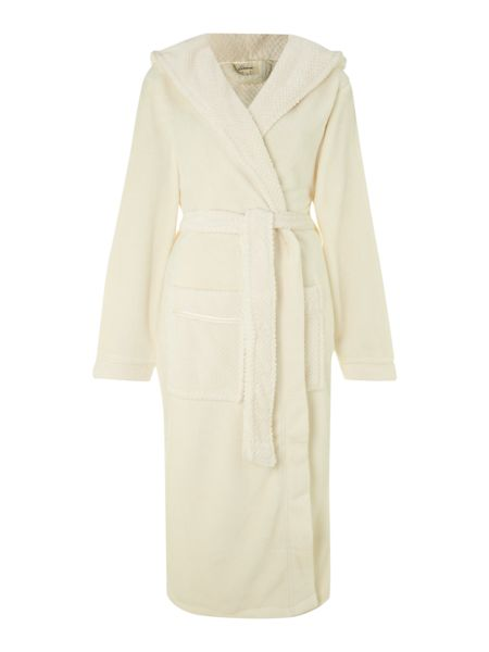 Linea Cosy soft robe with hood