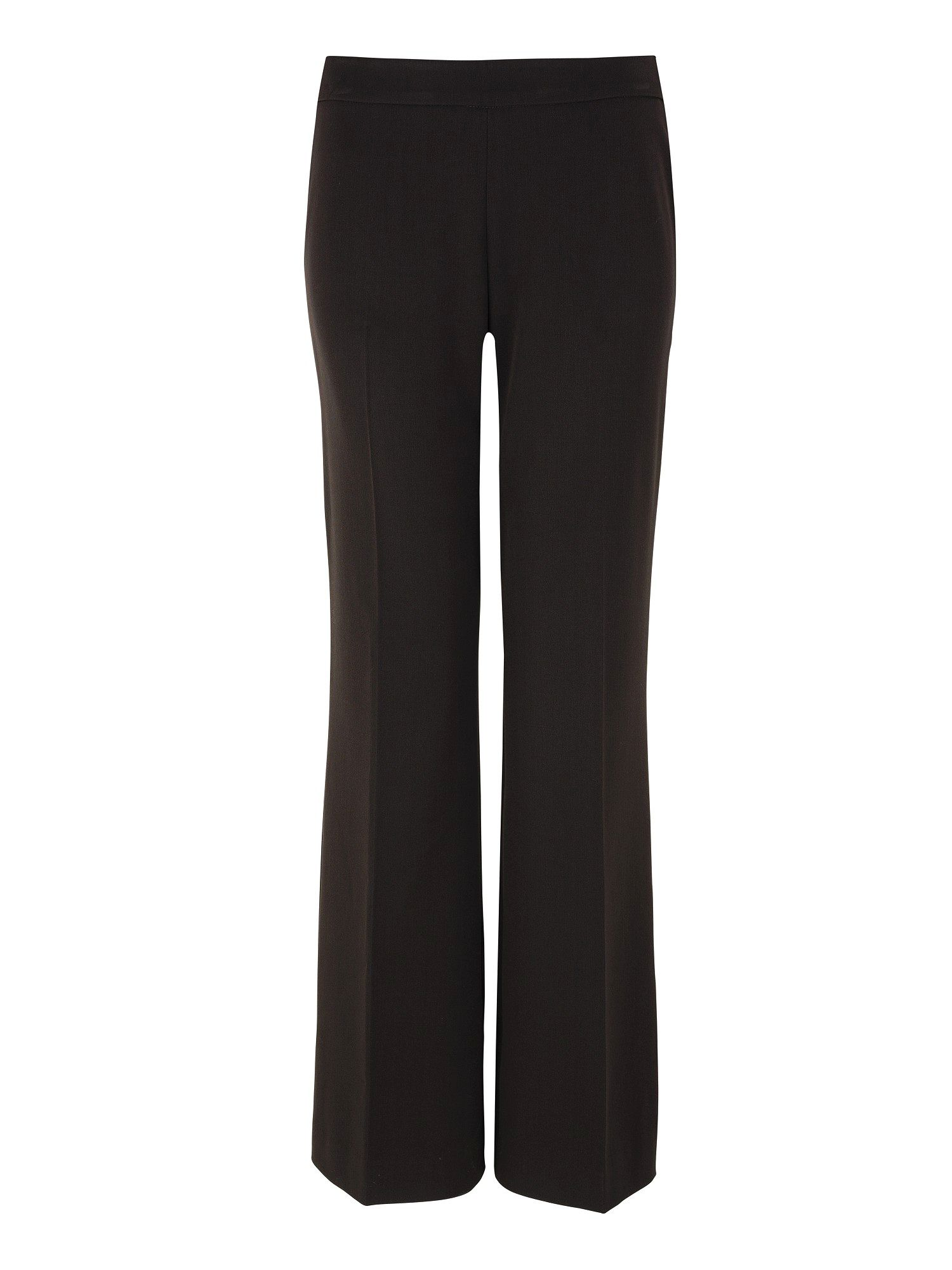 Chocolate loose flare leg trousers